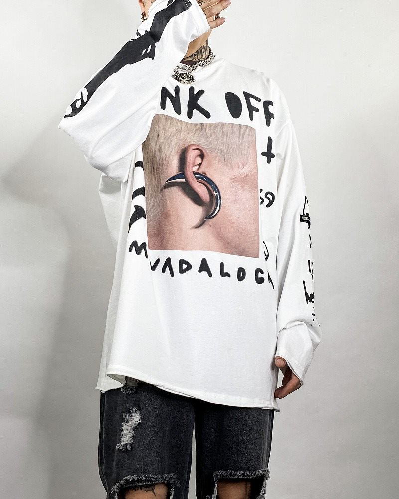 《2色》PUNK OFF ロングTシャツの画像3